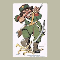 Mocking Postcard against Russia from Russian Japanese War