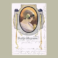 Art Nouveau Easter Postcard  by Braun