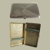 Silver cigarette case from c. 1918