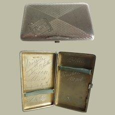 Silver cigarette case from c. 1918