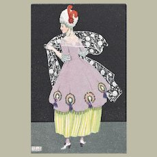 Mela Koehler Postcard Lady in Impressive Dress