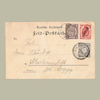 Imperial China Postcard with FPCh Cancellations Boxer Rebellion