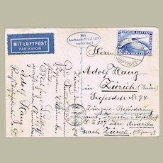 Zeppelin LZ 127 Mail 2 RM Stamp via USA