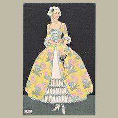 Mela Koehler Postcard Lady decorative Costume