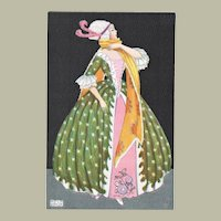 Mela Koehler Postcard Lady in Stunning Dress