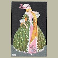 Mela Koehler Postcard Lady in Stunning Dress