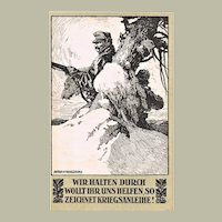Decorative Postcard Anton Karlinsky Sign War Bonds 1918