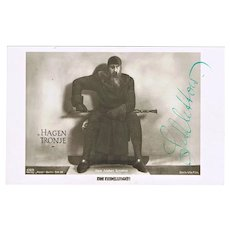 Hans Adalbert Schlettow Autograph, signed Photo. CoA