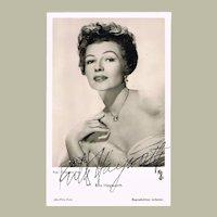 Rita Hayworth Autograph on Photo, CoA
