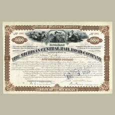 Michigan Central Railroad Company 5.000 $ Mortgage Loan