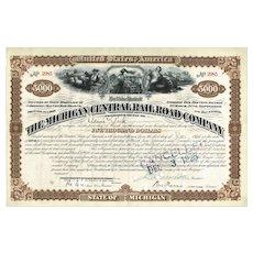 Michigan Central Railroad Company 5.000 $ Mortgage Loan