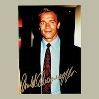 Arnold Schwarzenegger Autograph on Color Photo CoA