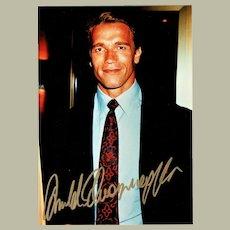 Arnold Schwarzenegger Autograph on Color Photo CoA