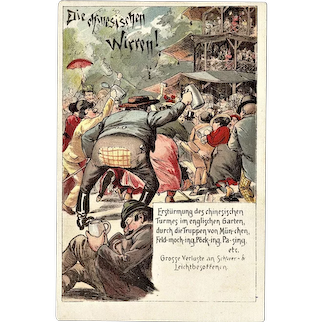 Chinese Commotion. Old Litho Postcard