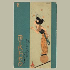 Raphael Kirchner Postcard, Mikado 1901