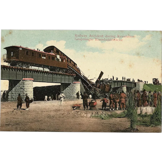 China Postcard Railway Accident during Revolution