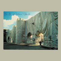 Christo and Jeanne-Claude Wrapped Roman Wall Postcard with CoA