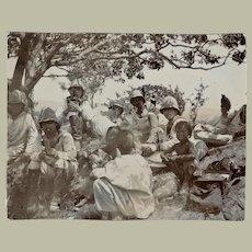 Old Chinese Photo German Marines and Children