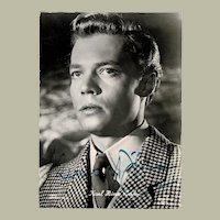 Sissi Actor Karl Heinz Boehm  Early Autograph CoA