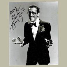 Sammy Davis Junior Autograph on b/w 8 x 10 Photo CoA