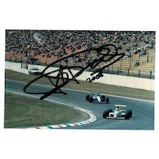 Ricardo Patrese Autograph on Photo, CoA