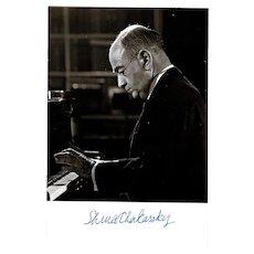 Shura Cherkassky Autograph on Photo CoA