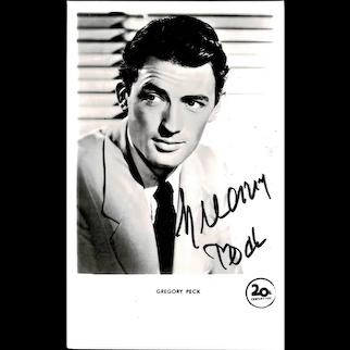Gregory Peck Autograph on Photo. CoA