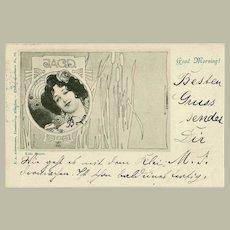 Kolo Moser Postcard from 1898 Wiener Secession