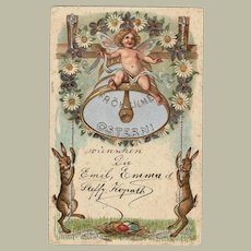 Embossed Easter Postcard from 1901