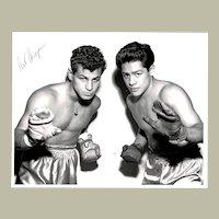 Art Aragon Boxing Champion Signed Real Photo. 10 x 8. CoA