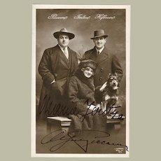 Maria Jeritza and Alfred Piccaver Autographs on Photo. CoA