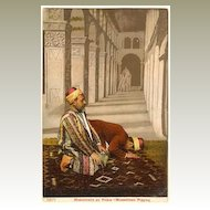 Muslims praying. Vintage Postcard, ca. 1910