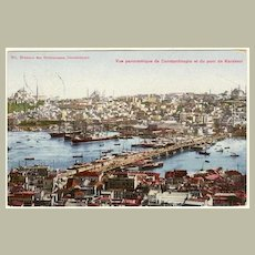 Old Turkey: Constantinople Postcard to Austria. 1908. Scarce Stamp!