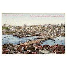 Old Turkey: Constantinople Postcard to Austria. 1908. Scarce Stamp!
