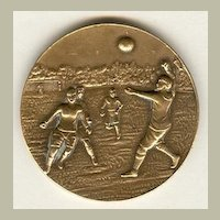 Old Medal for Winner of Fist ball Tournament 1924