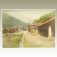 Old Japan: Tinted Photo. Village Scene