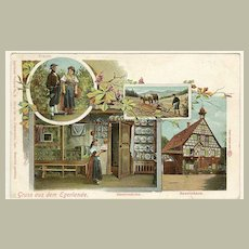 Greetings from Egerland: Litho Postcard 1910