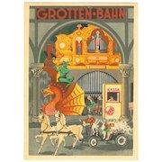 Luna Park in Vienna: Decorative Advertising Postcard.