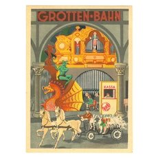 Luna Park in Vienna: Decorative Advertising Postcard.