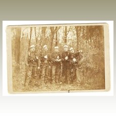 1889: Cabinet Photo Five Soldiers from Austria