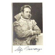 Helge Roswaenge Autograph: Signed Photo CoA