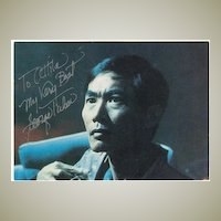 George Takei Autograph: Star Trek Actor. CoA