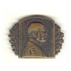 WWI: Portrait Pin Field Marshall Friedrich, 1915