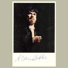 Alan Bates Autograph: Signed Photo. CoA