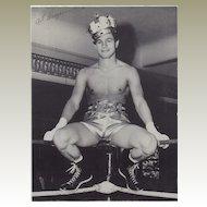 Art Aragon: Boxing Star. Signed 8 x 11 Photograph