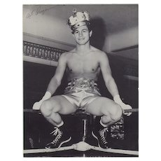 Art Aragon: Boxing Star. Signed 8 x 11 Photograph
