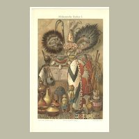 African Culture: Chromo Lithograph from 1902