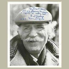 Keenan Wynn Autograph: 1984 Photo with Dedication. CoA