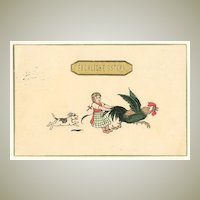 Happy Easter: Funny vintage Postcard