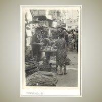 Old Hong Kong: Photo of Market Street. Ca. 1950s